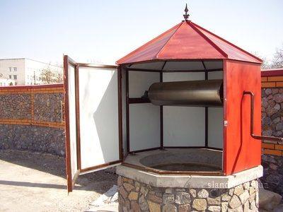 Домик для колодца металлопрофиля.