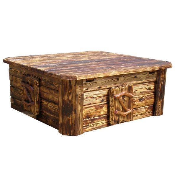 Если поработать шлифмашинкой и прожечь поверхность горелкой, у вас получится шикарный стол в старинном стиле, и никто не поймет, что это крышка люка колодца