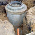 Установка колодца для выполнения канализационных нужд