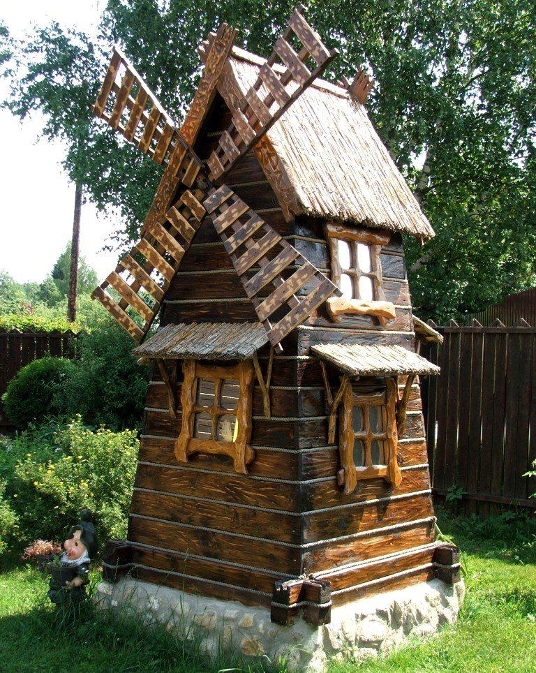 Деревянные мельницы фото