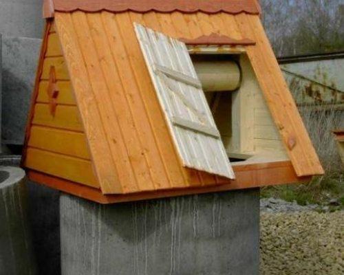 Крышка-домик проста в изготовлении и смотрится отлично