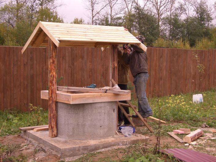 Как сделать крышу для колодца