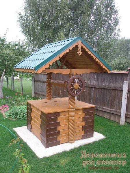 На фото домик в морском стиле.