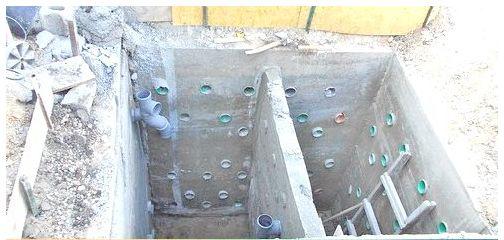 Бетонирование сливной ямы