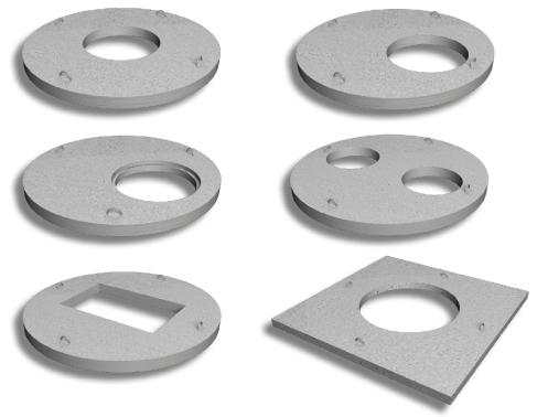 Образцы бетонных плит для закрытия канализационных колодцев