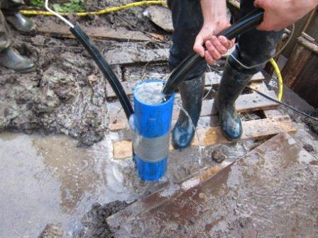 Очистка скважины с поверхности