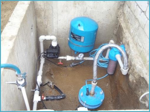 После возведения фундамента вы смело можете установить необходимое оборудование для воды