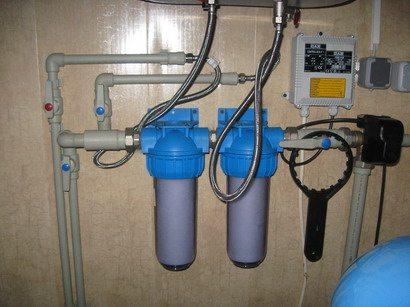 Распределительная система с фильтрами тонкой очистки.