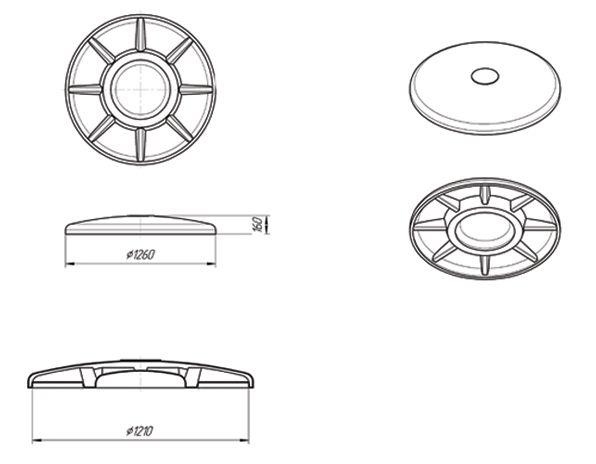 Схема стандартной круглой модели