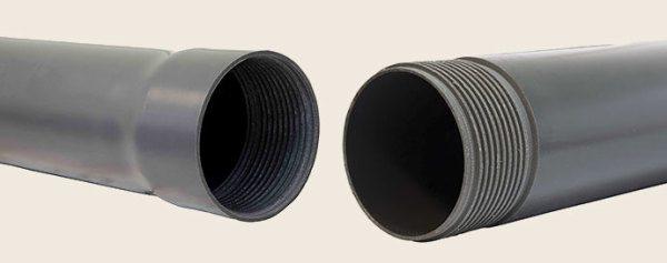 Труба ПВХ с резьбовыми соединениями.