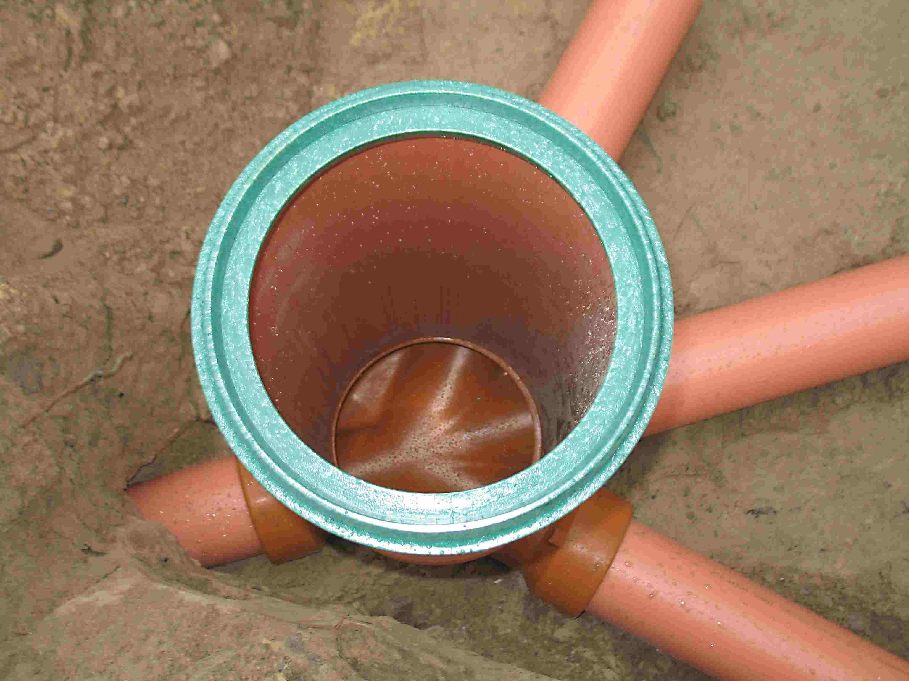 схема сливной переливной канализации