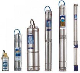 Внешний вид погружных насосов предназначенных для работы на глубине скважины