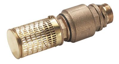 Всасывающий конец снабжаем обратным клапаном и фильтром грубой очистки.