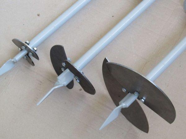 Буры для бурения скважин в ручную можно изготовить самостоятельно.