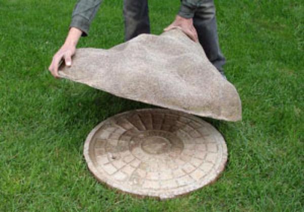Декор под камень.