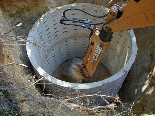 Фильтрующая шахта из бетона.