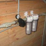Фильтры в системе водоснабжения из скважины