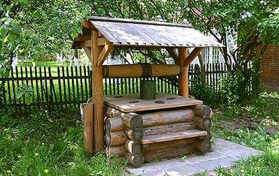 Фото деревянного шахтного колодца