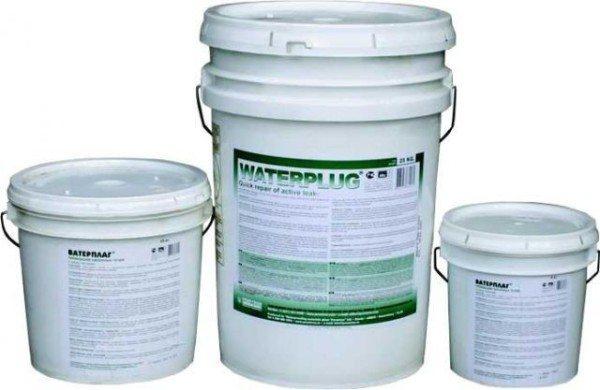 Фото готовой смеси для гидроизоляции колодезных швов.