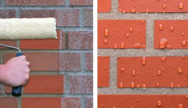Гидроизоляция поверхности защищает кирпич от разрушения