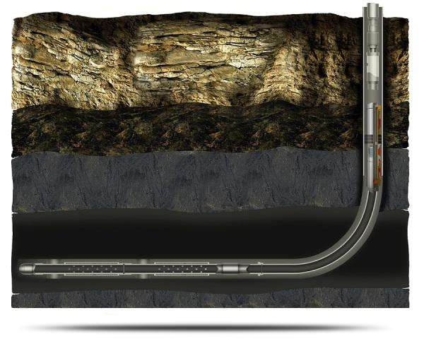 Именно так должен быть проложен трубопровод из скважины, не следует поднимать даже утепленные трубы выше уровня промерзания грунта