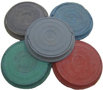 Крышку на колодец можно подобрать желаемого цвета