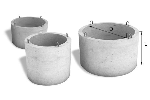 Любительское фото колец из бетона, на котором можно увидеть петли для крепления троса тельфера или крана, что свидетельствует о большом весе