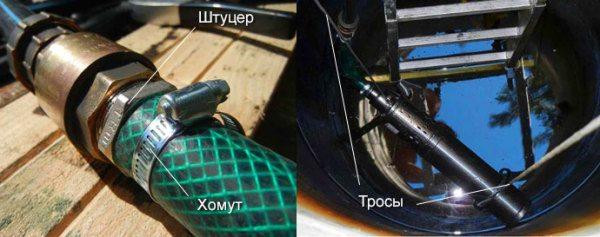 На фото - наглядная демонстрация подключения погружного насоса