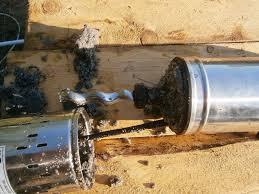 На фото - пришедший в негодность насос для скважины на 30 метров с песком.