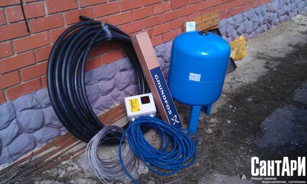 Необходимый минимум оборудования для автономной системы водоснабжения.