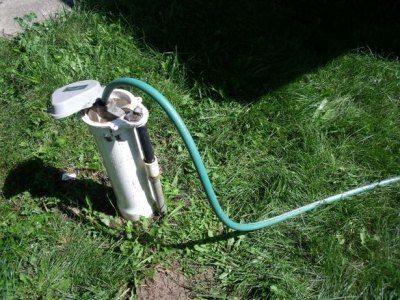 Оборудованная скважина для бытовых нужд