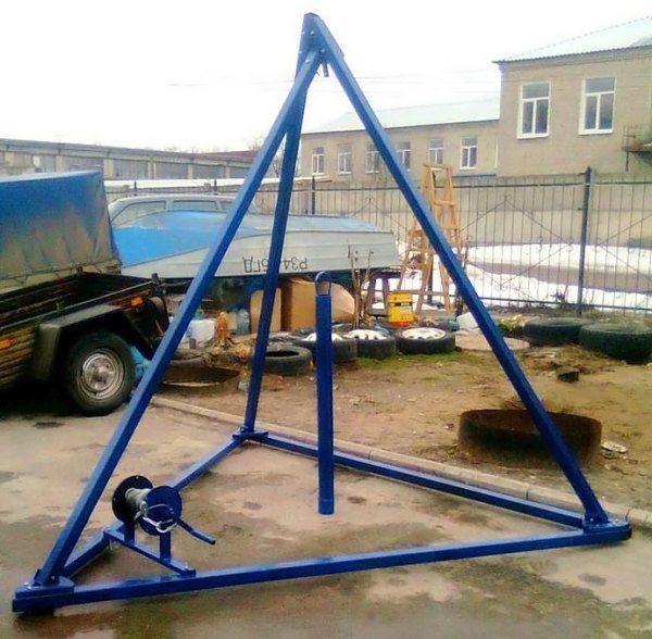 Образец трёхгранной конструкции из стали