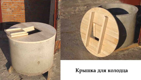 Одна из моделей деревянных колодезных люков.