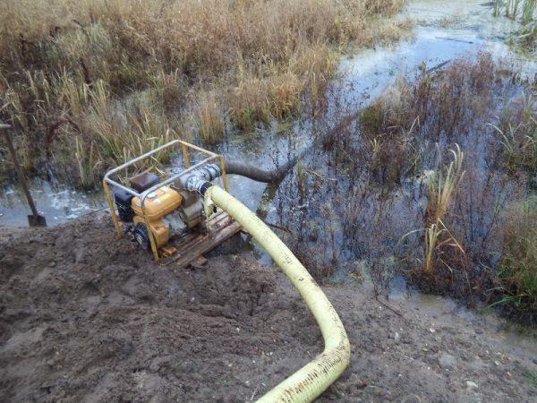 Осушение болотистой местности