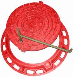 Пластиковый люк с запорным механизмом.