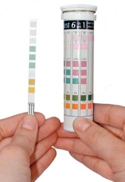 Подтвердить большое содержание железа в воде из скважины может тест, обычно поставляемый производителями фильтров