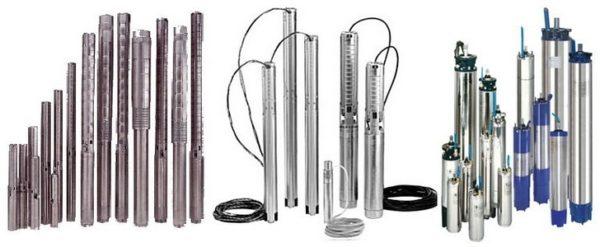Погружные насосы для скважин разного диаметра