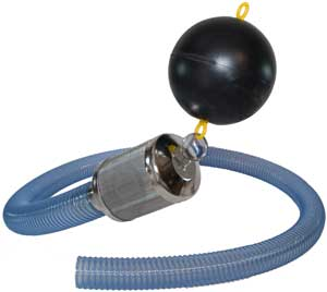 Поплавок и гибкий шланг для специальных моделей, производящих отбор воды под поверхностью