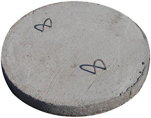 Простой бетонный диск со скобами