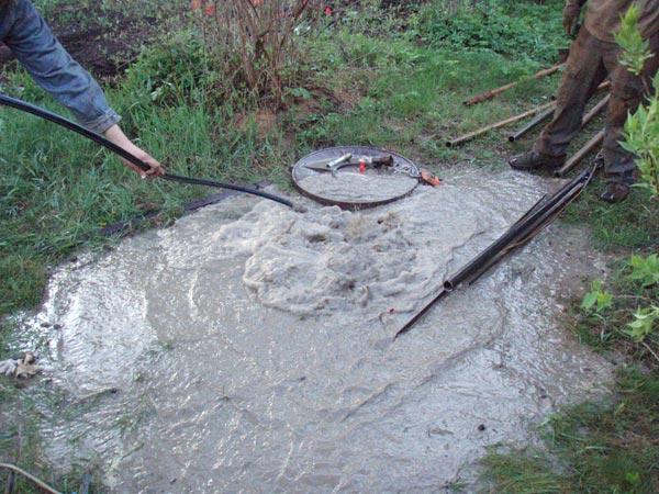 Проведение работ по очистке колодца на загородном участке