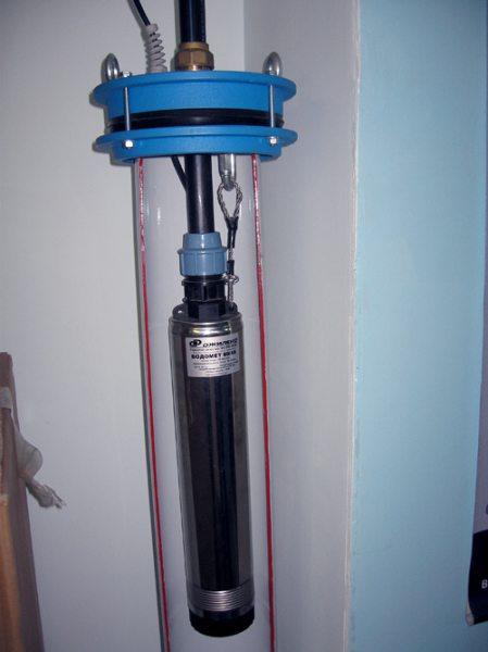 Расположение погружного агрегата в стволе скважины.