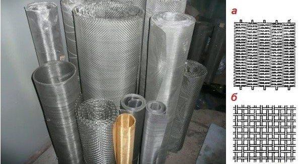 Различные виды сеток, которые можно использовать для изготовления очистительных конструкций