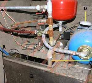 Решить вопрос, как обезжелезить воду из скважины, можно решить и создав систему своими руками (см. описание в тексте)