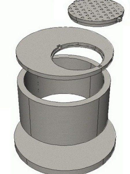 Схема монтажа бетонного колодца