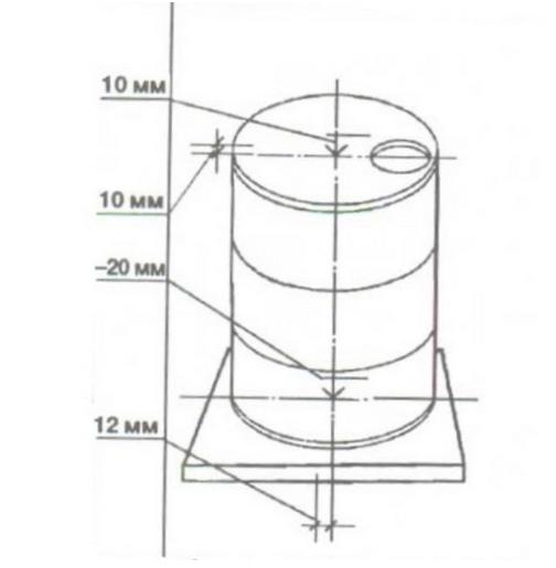 Схема с указанием допусков по отклонениям для ЖБ колодцев