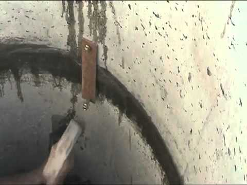 Скрепление бетонных колец.