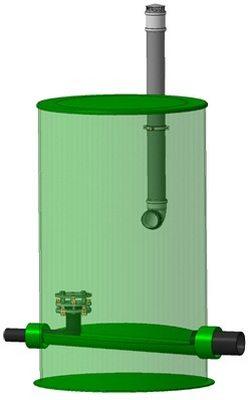 Типовой проект колодца гасителя напора для автономной канализации