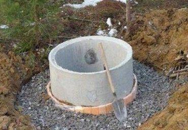 Цементно-щебневая подушка готова для заливки
