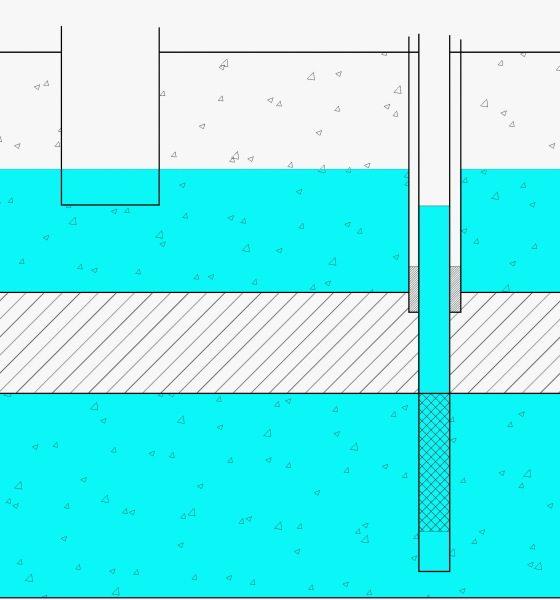 В отличие от колодца забор воды в скважине осуществляется с защищенного от загрязнения горизонта