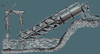 Винт Архимеда использовался для подъема воды еще до нашей эры.